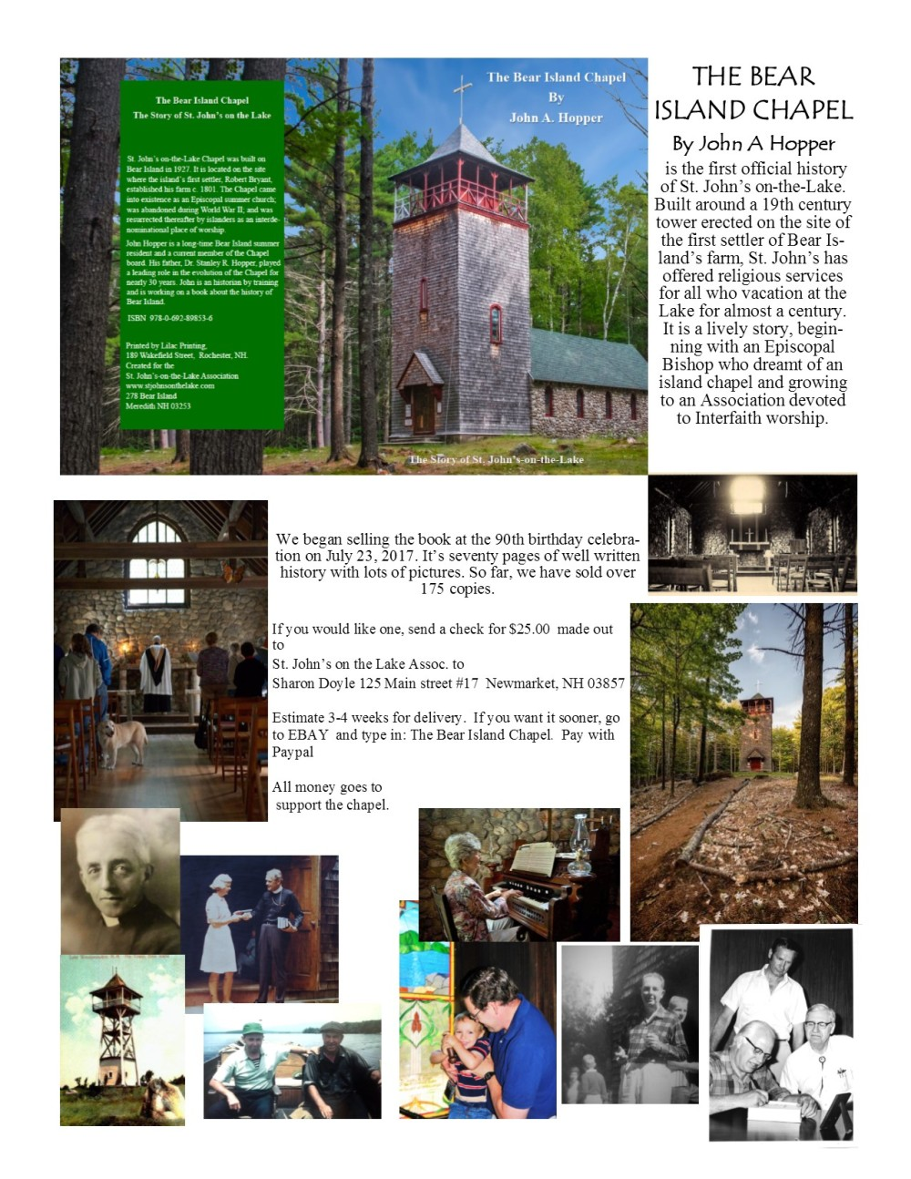 The Bear ISland Chapel Webpage portraits